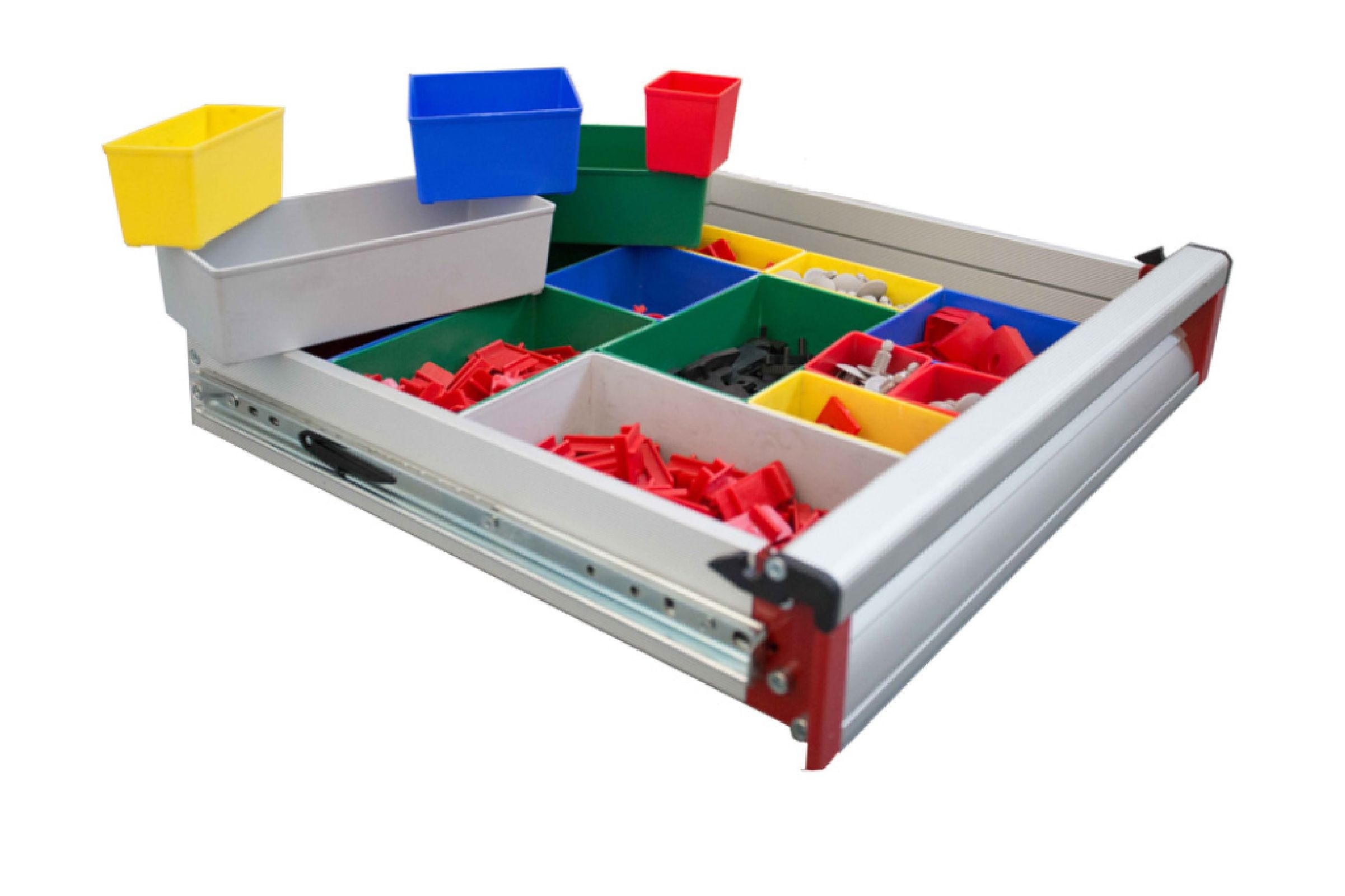 Drawer with containers